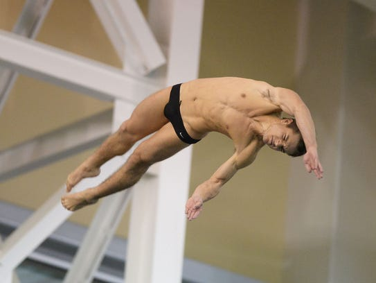 Dylan Grisell recently finished his college diving