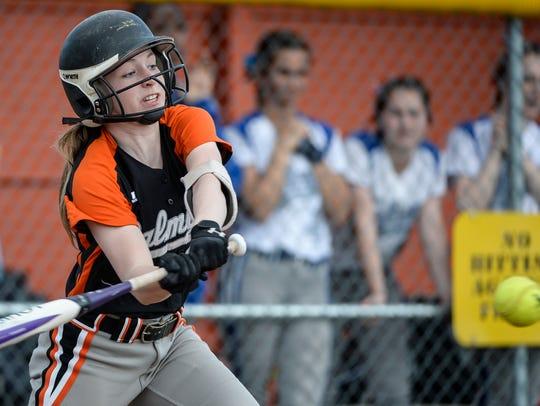 Kayla Bonawitz and the Palmyra softball team fell to