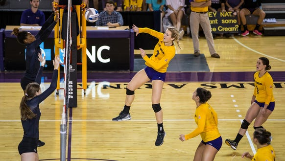 Reynolds alum Natalie Montini  was named to the All-AAC team as a senior for the East Carolina volleyball team.