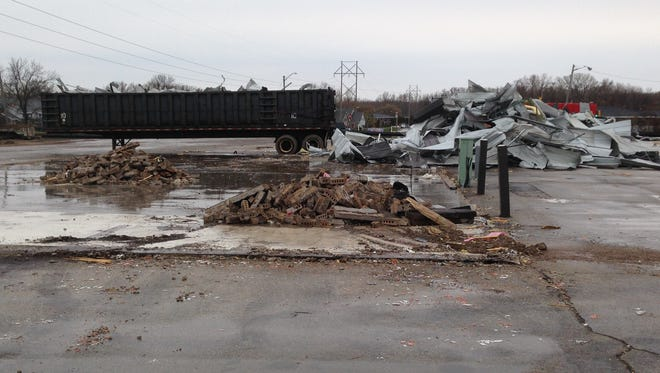 The former InCompetition Sports location in the University Avenue triangle has been demolished to make way for new Festival Foods and Kwik Trip stores.
