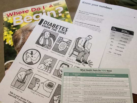 Pictured is some of the information provided during a recent diabetes class at the MountainView Senior Circle. Southern New Mexico Diabetes Outreach hosts Diabetes classes and support group meetings for youth and adults each month.
