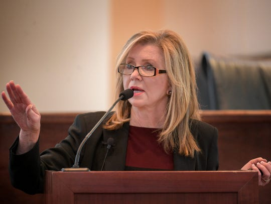 Rep. Marsha Blackburn speaks at Town Hall meeting at
