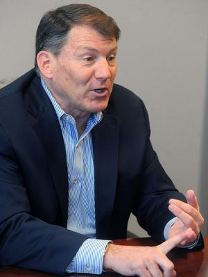 Senator Mike Rounds talks with Argus Leader Media on Wed., Jan. 6, 2016.