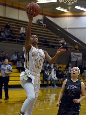 Errin Hodges, who joined the Central girls basketball team last year, has given the Bears a boost in their offensive and defensive tempo. In this file photo, Hodges eclipsed the 1,000-point mark in her high school career with a layup in a sectional win over Reitz last week.