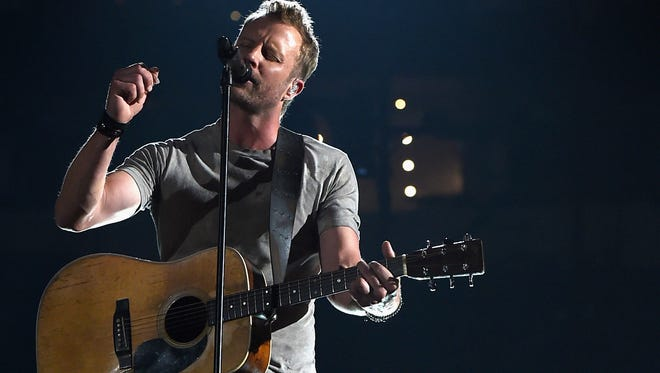 Dierks Bentley performs onstage during the 50th Academy Of Country Music Awards at AT&T Stadium on April 19, 2015 in Arlington, Texas.