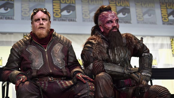 Steve Agee and Chris Sullivan cosplayed as their 'Guardians'