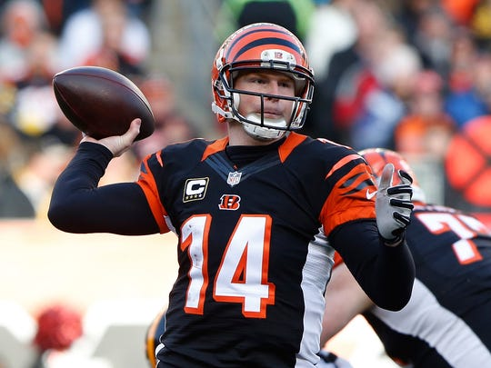 Bengals quarterback Andy Dalton passes against the Steelers on Dec. 7.