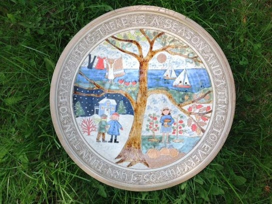 Platter by Clay Bay Pottery co-owner Jeanne Aurelius,