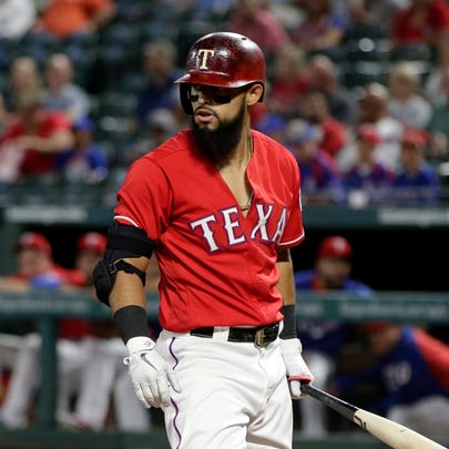 Rougned Odor draws his fifth walk of the game in the