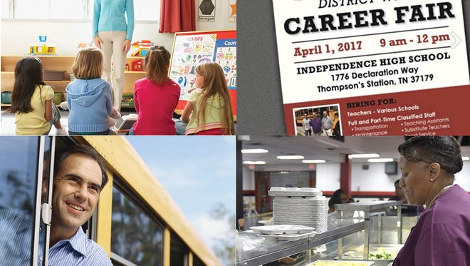 Williamson County Schools will host a Job Fair Saturday, April 1 to fill immediate openings and positions for the 2017-18 school year.