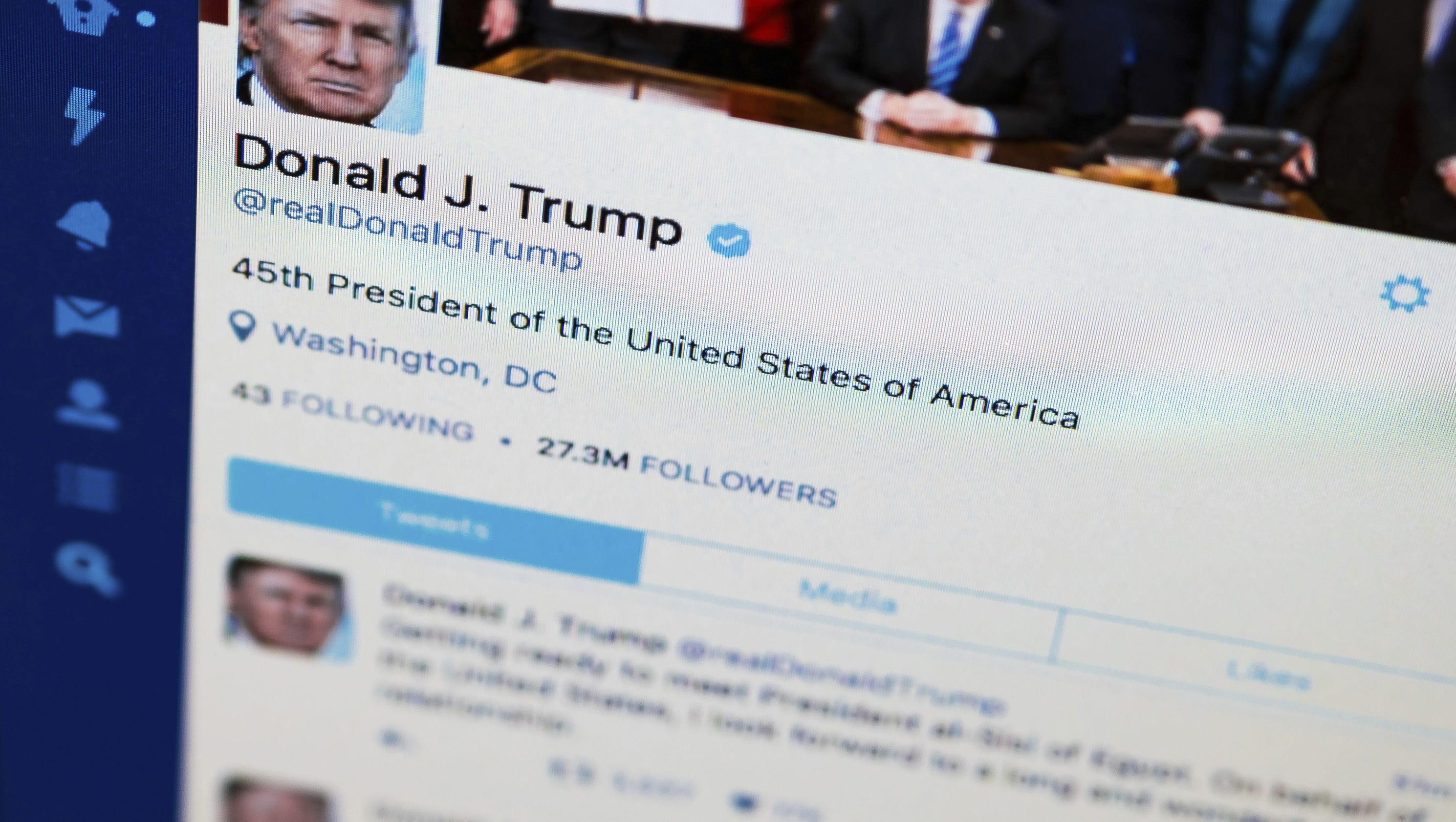 Donald trump 39 s travel ban tweets raise questions about for R s bains twitter
