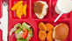 This lunch tray passes the healthy lunch test but not