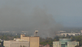 Smoke from a fire that started on marker three of the