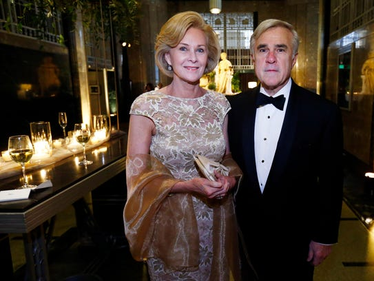 Jennie and Rob McCabe are seen at the Frist Gala on