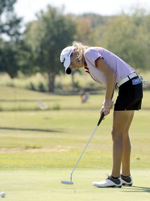Brighton senior Aubree Jones finished second as the AAA girls state golf tournament wrapped up Wednesday.