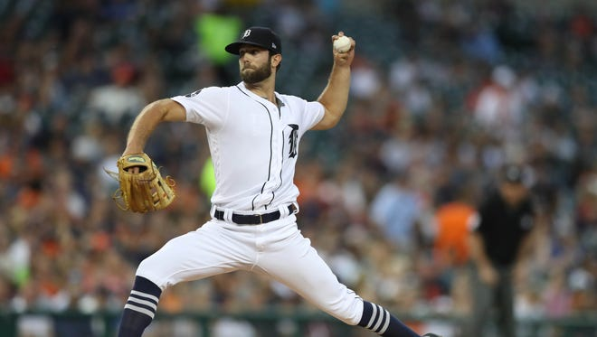 Daniel Norris pitches against the Royals in the fourth inning Wednesday, June 28, 2017 at Comerica Park in Detroit.