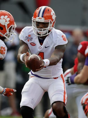 Clemson and quarterback Deshaun Watson (4) are in strong contention for the College Football Playoff.