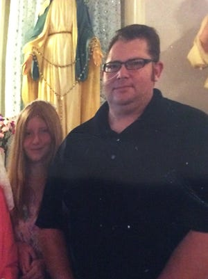 Timothy Kosak, right, and his daughter Clarrissa Kosak were involved in a motorcycle crash last month.