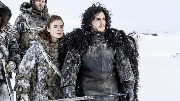 Kit Harington and Rose Leslie in a scene from an early