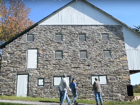 An old barn on Cline's Church Road is the 200th barn to be registered with the Historic Gettysburg Adams County's barn preservation project and grant program.