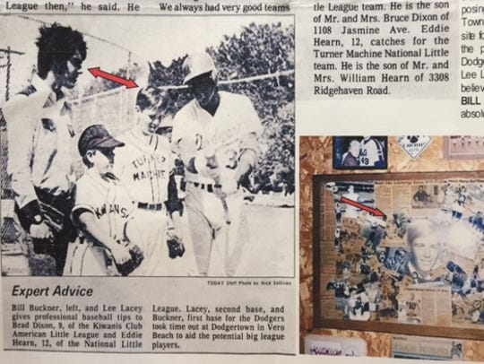 This 1970s clipping shows former New York Met Ed Hearn