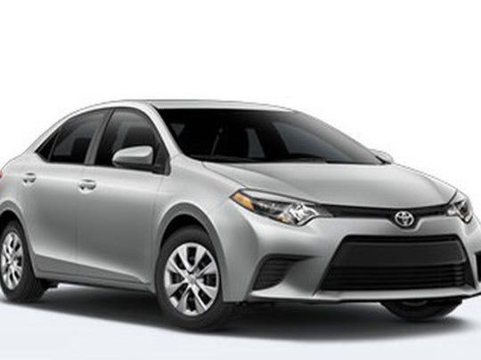 Grey Toyota Corolla.