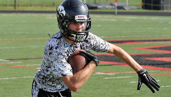 Ricky Thrash was an All-WNC receiver for the North Buncombe football team in 2014.