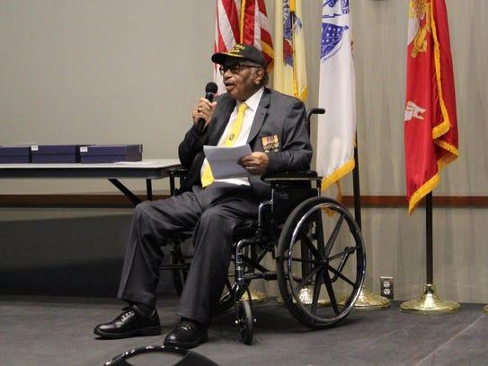 John Thomas, World War II veteran and chair of the