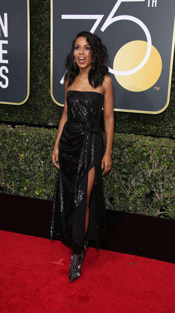 Kerry Washington in a strapless Prabal Gurung.