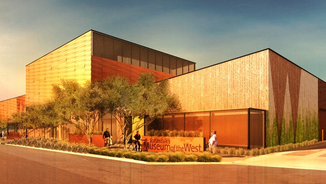A rendering shows Scottsdale's proposed 40,000-square-foot Museum of the West, which is currently in the design phase.