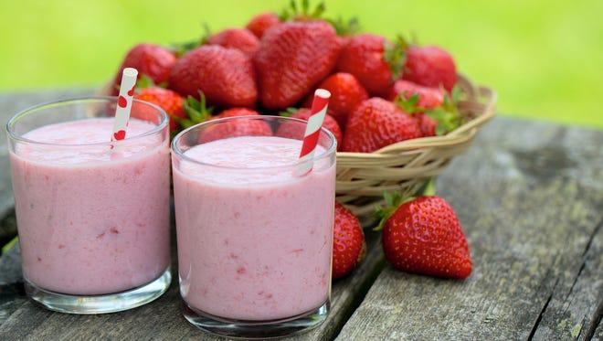 Turn our abundance of local strawberries into a decadent milkshake.