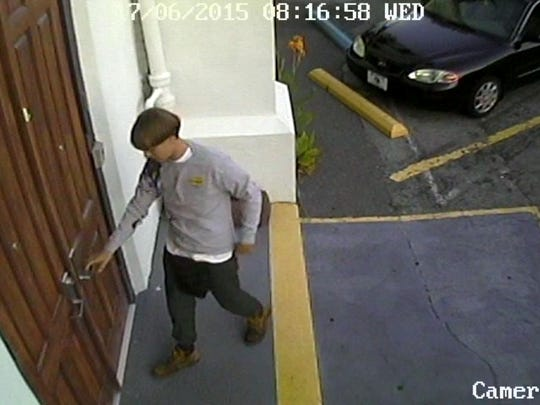 A surveillance photo of the suspect in the shooting
