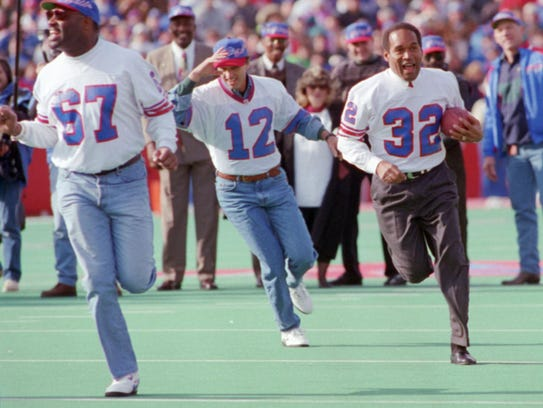 Happier days, the fall of 1993, O.J. following old
