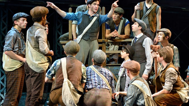 "The touring cast of ""Newsies the Musical,"" based on the 1992 Disney movie that became a cult hit after initially faltering."