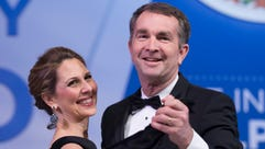 Virginia Gov. Ralph Northam and his wife, Pam, dance