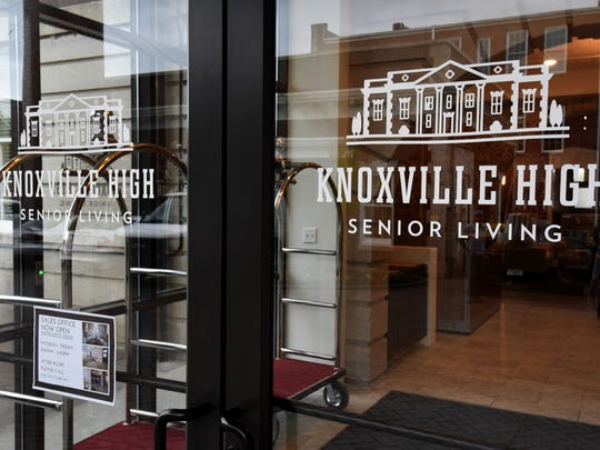 Pre-opening tour of the restored Knoxville High by developer Rick Dover Monday, April 23, 2018.