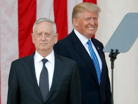 President Trump and Defense Secretary James Mattis.