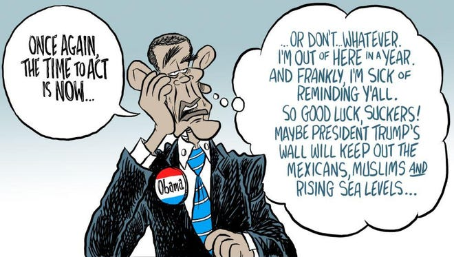 Obama editorial cartoon by Andy Marlette