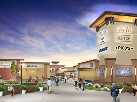 This is a conceptual drawing of the Outlets of Des Moines outlet mall planned in Altoona.