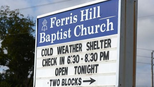 A cold weather shelter for the homeless or heatless opens at Ferris Hill Baptist Church, 6848 Chaffin St. in Milton, whenever temperatures are forecasted to dip below 40 degrees.