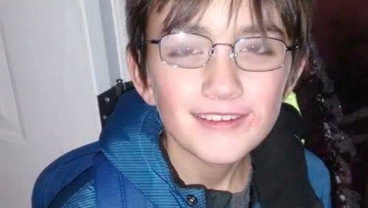 Fourth-grader Jaden Bushcert, 10, was struck by a pickup Tuesday in Alabama.