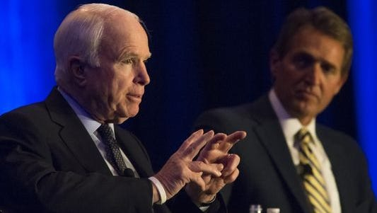 Arizona's Sens. John McCain and Jeff Flake