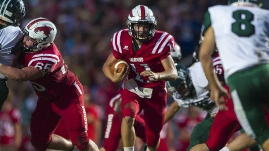 Zach Neligh and New Palestine are No. 10 on our countdown of top high school football teams in Central Indiana.