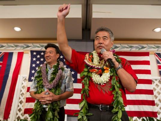 AP ELECTION GOVERNOR HAWAII A ELN USA HI