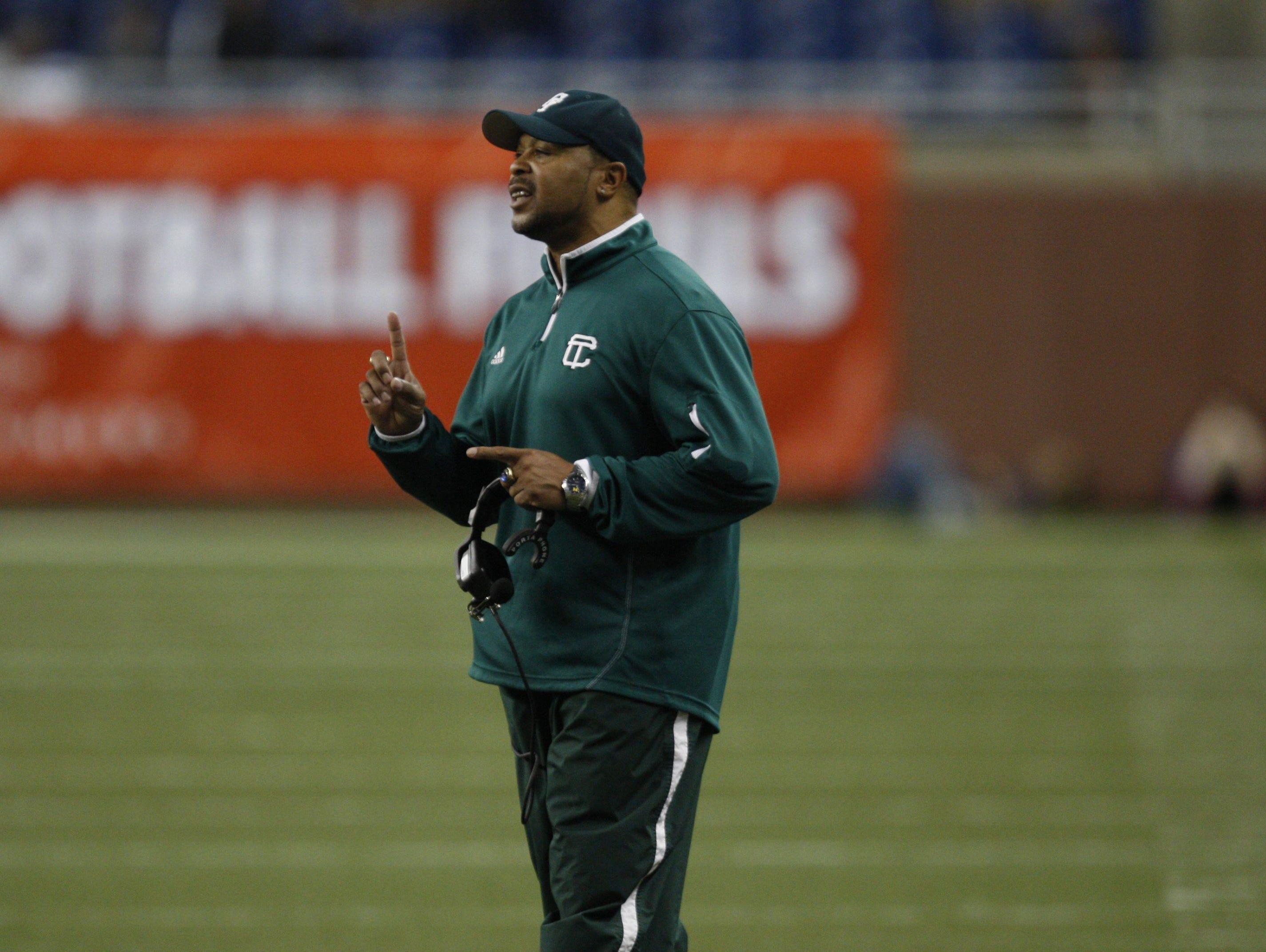 Detroit Cass Tech football coach Thomas Wilcher