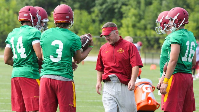 Todd Sturdy is taking over as Iowa State's offensive coordinator.