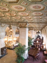 Lobby of the Brown Hotel.