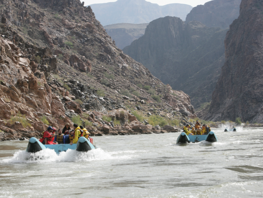 Chance the rapids on the Colorado River as it snakes