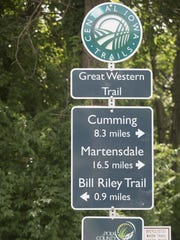 A trail connection allows riders to go from downtown to Gray's Lake to Carney Park to Orlondo's and beyond on the Great Western Trail.