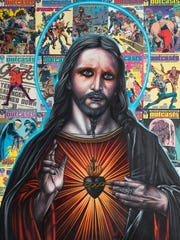 """""""Outcasts (Jesus)"""" by Michael LaBua. Oil and collage"""